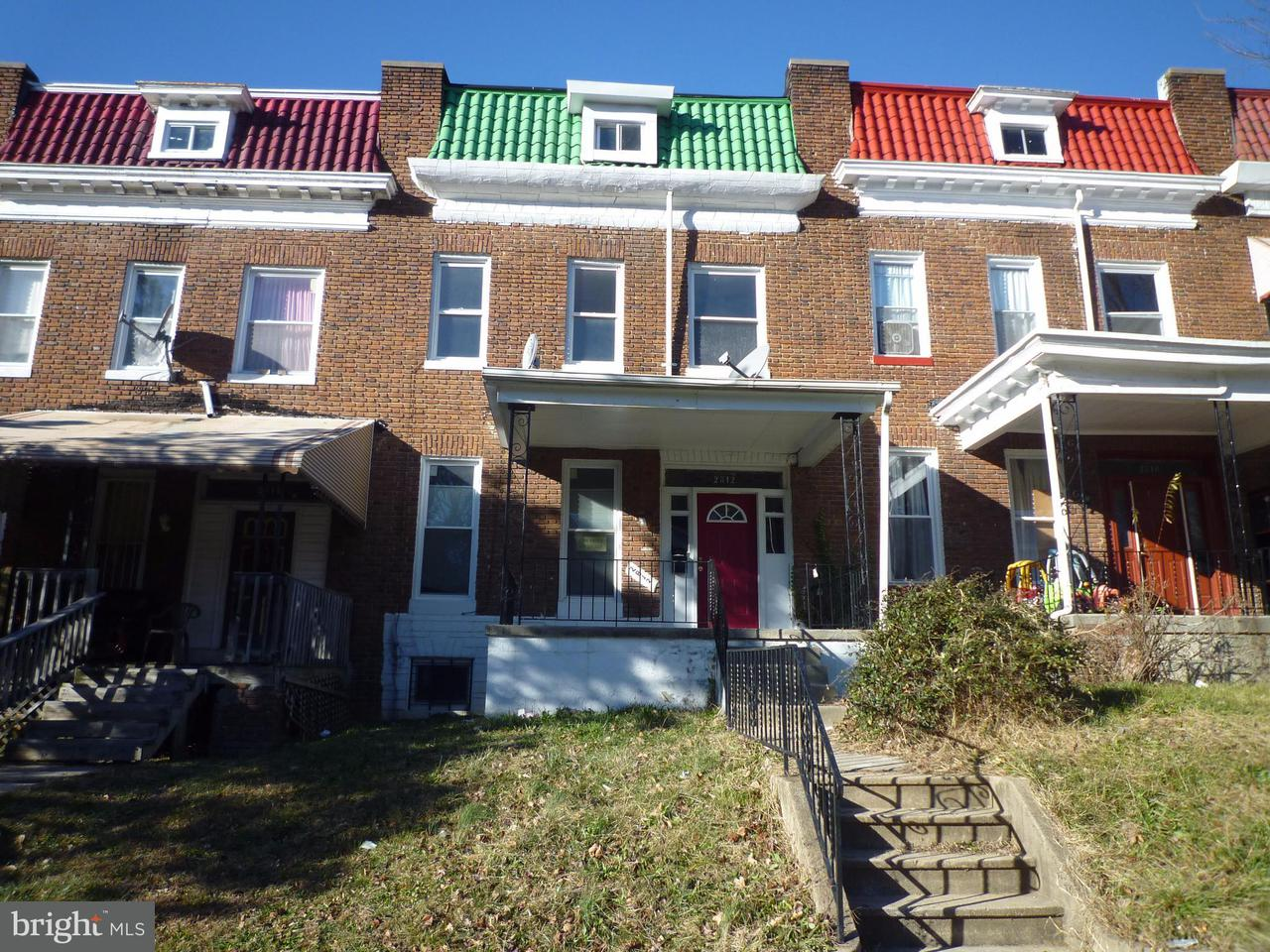 Single Family for Sale at 2812 Norfolk Ave Baltimore, Maryland 21215 United States