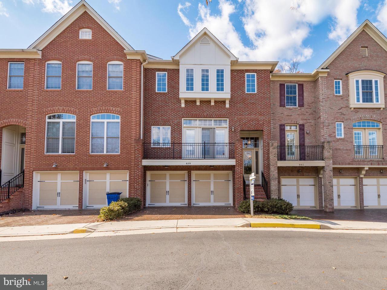Townhouse for Sale at 659 NATHANIEL CHASE Lane 659 NATHANIEL CHASE Lane Herndon, Virginia 20170 United States