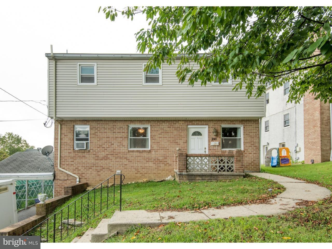 Single Family Home for Sale at 281 SUMMIT Avenue Conshohocken, Pennsylvania 19428 United States