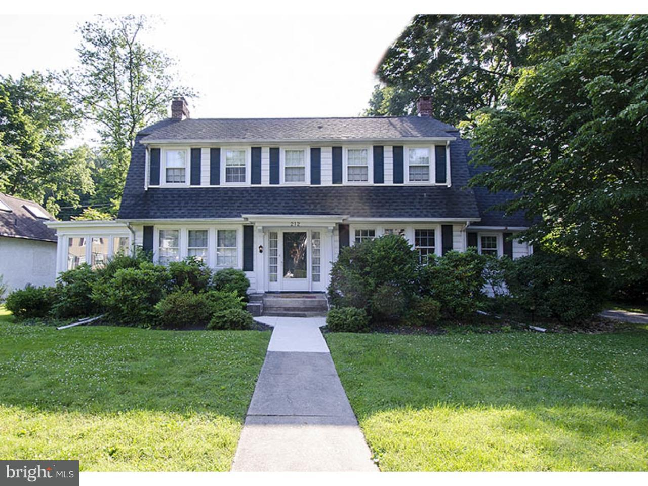 Single Family Home for Sale at 212 VALLEY Road Merion Station, Pennsylvania 19066 United States