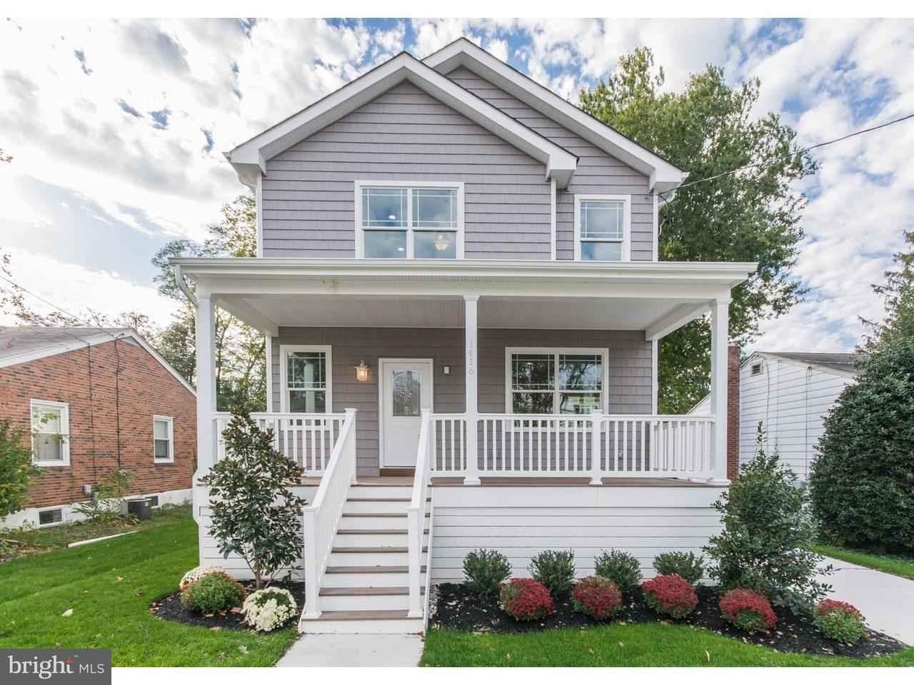 Single Family Home for Sale at 1416 SYCAMORE Street Haddon Heights, New Jersey 08035 United States