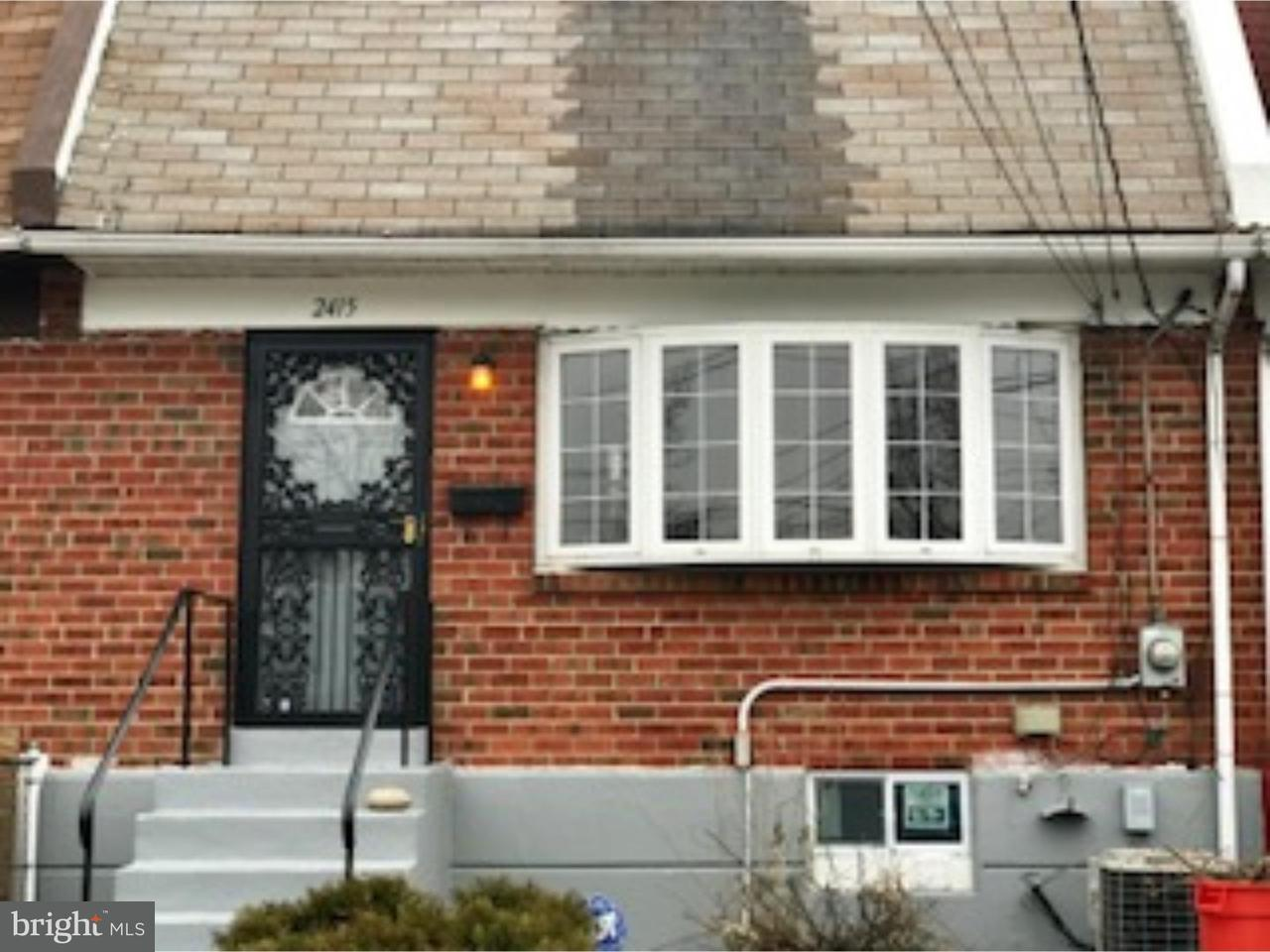 Townhouse for Rent at 2415 DENFIELD Street Camden, New Jersey 08104 United States