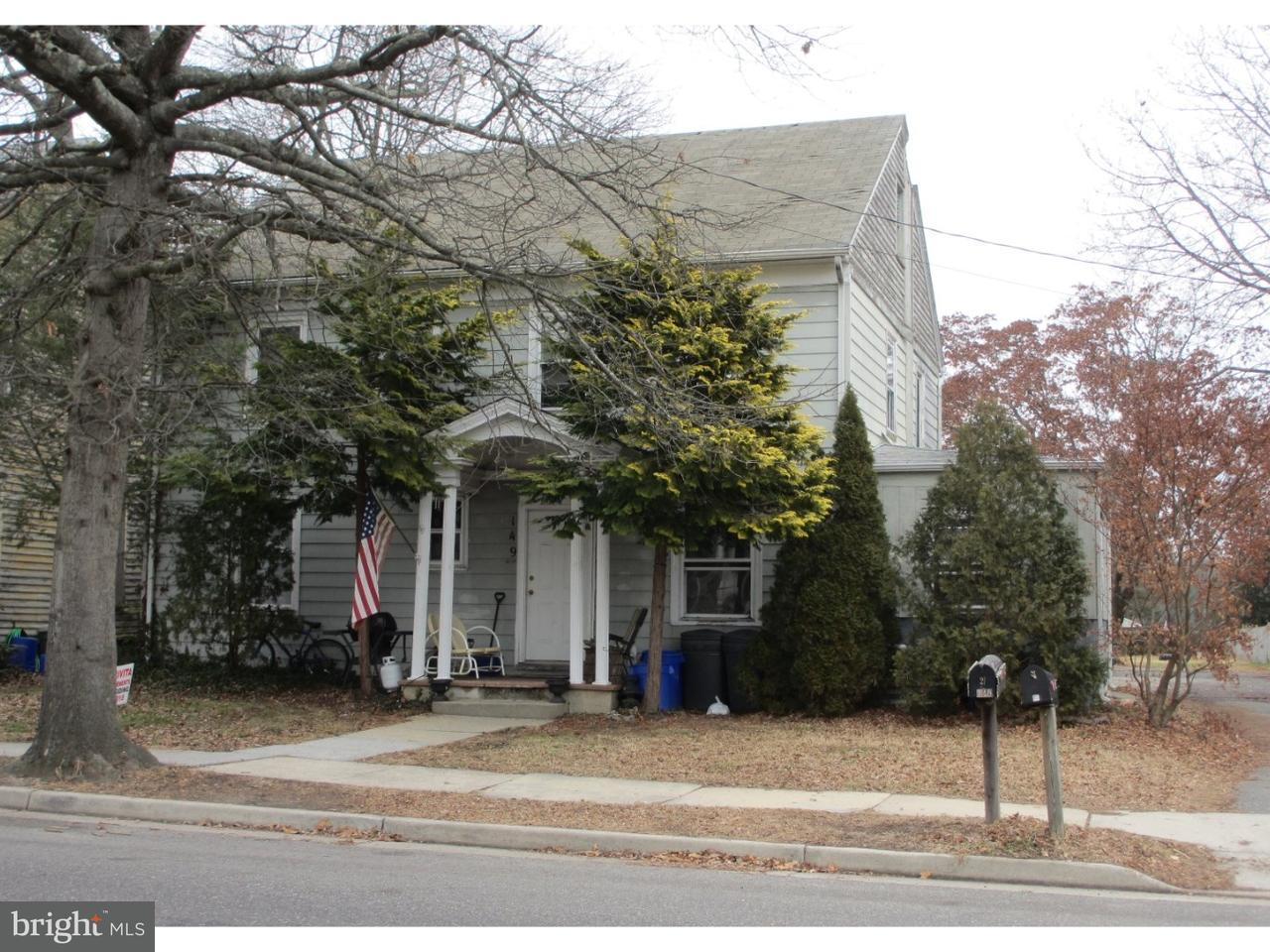 Частный односемейный дом для того Продажа на 149 S MAIN Street Elmer, Нью-Джерси 08318 Соединенные Штаты