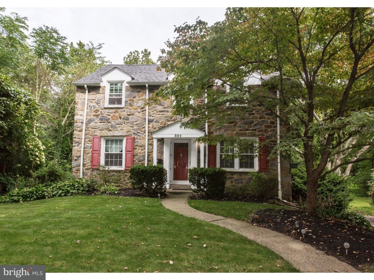 Частный односемейный дом для того Продажа на 301 RIVERVIEW Road Swarthmore, Пенсильвания 19081 Соединенные Штаты