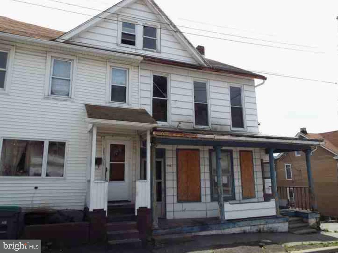 Triplex pour l Vente à 130 CLAY Street Tamaqua, Pennsylvanie 18252 États-Unis