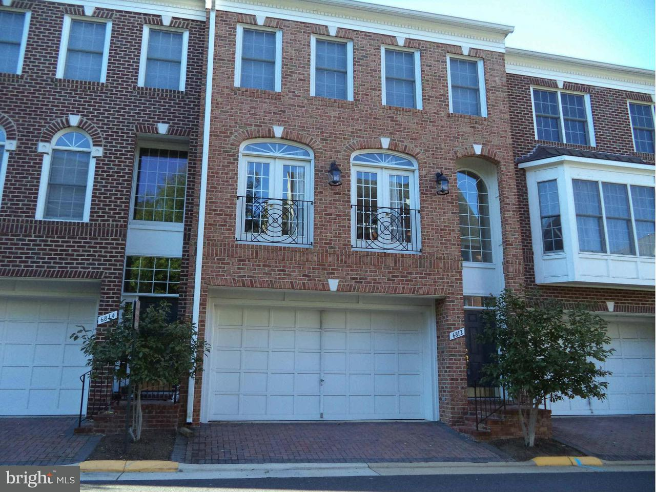 Townhouse for Sale at 6812 RIGBY Lane 6812 RIGBY Lane McLean, Virginia 22101 United States