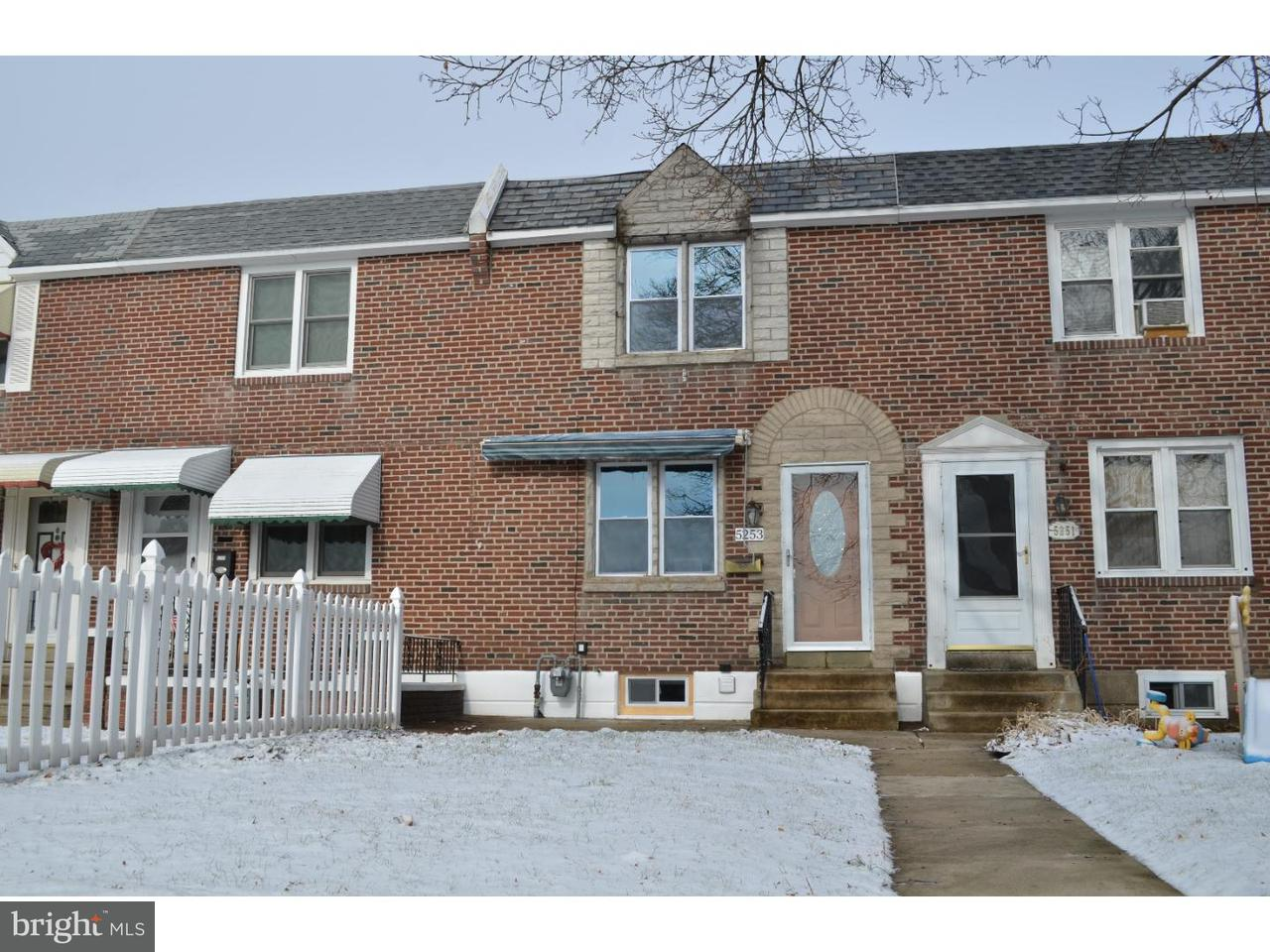 Townhouse for Sale at 5253 WESTPARK Lane Clifton Heights, Pennsylvania 19018 United States
