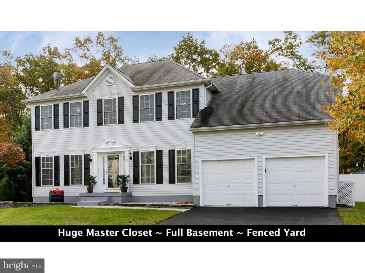 Einfamilienhaus für Verkauf beim 23 SUNFLOWER Circle Burlington, New Jersey 08016 Vereinigte Staaten