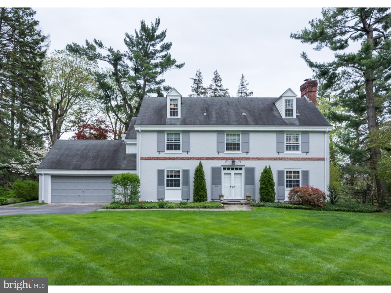 Maison unifamiliale pour l Vente à 516 E GRAVERS Lane Wyndmoor, Pennsylvanie 19038 États-Unis