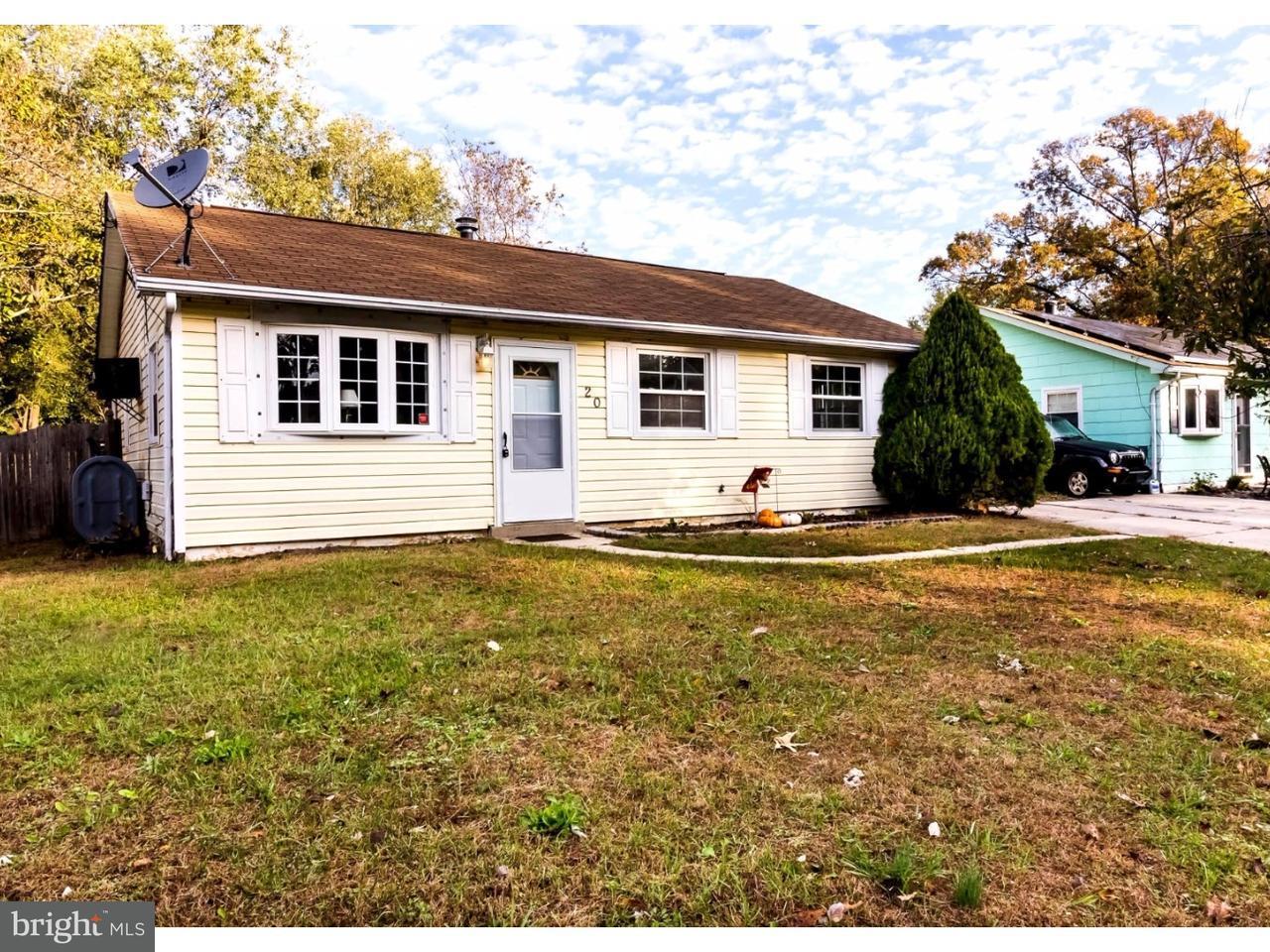 Casa Unifamiliar por un Venta en 20 JEROME Avenue Erial, Nueva Jersey 08081 Estados Unidos