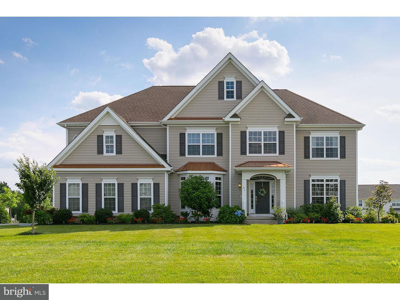 Maison unifamiliale pour l Vente à 61 CURTMANTLE Road Mickleton, New Jersey 08056 États-Unis