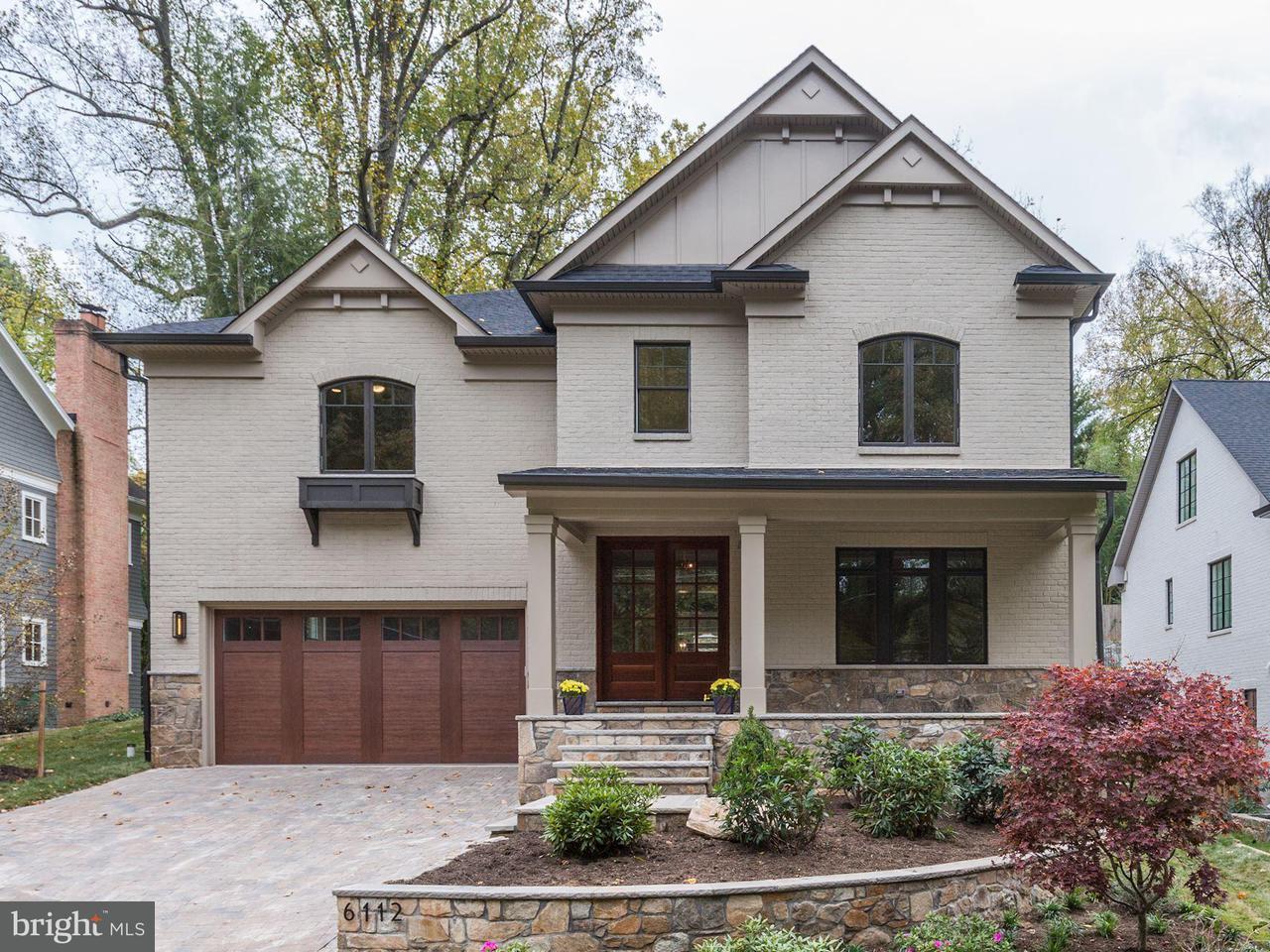 Maison unifamiliale pour l Vente à 6112 WINNEBAGO Road 6112 WINNEBAGO Road Bethesda, Maryland 20816 États-Unis