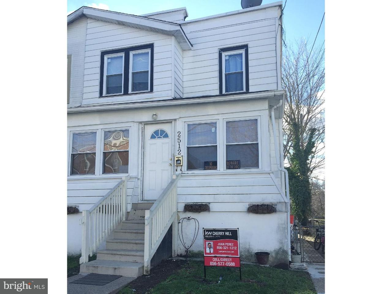Townhouse for Rent at 2512 4TH Avenue Woodlynne, New Jersey 08107 United States