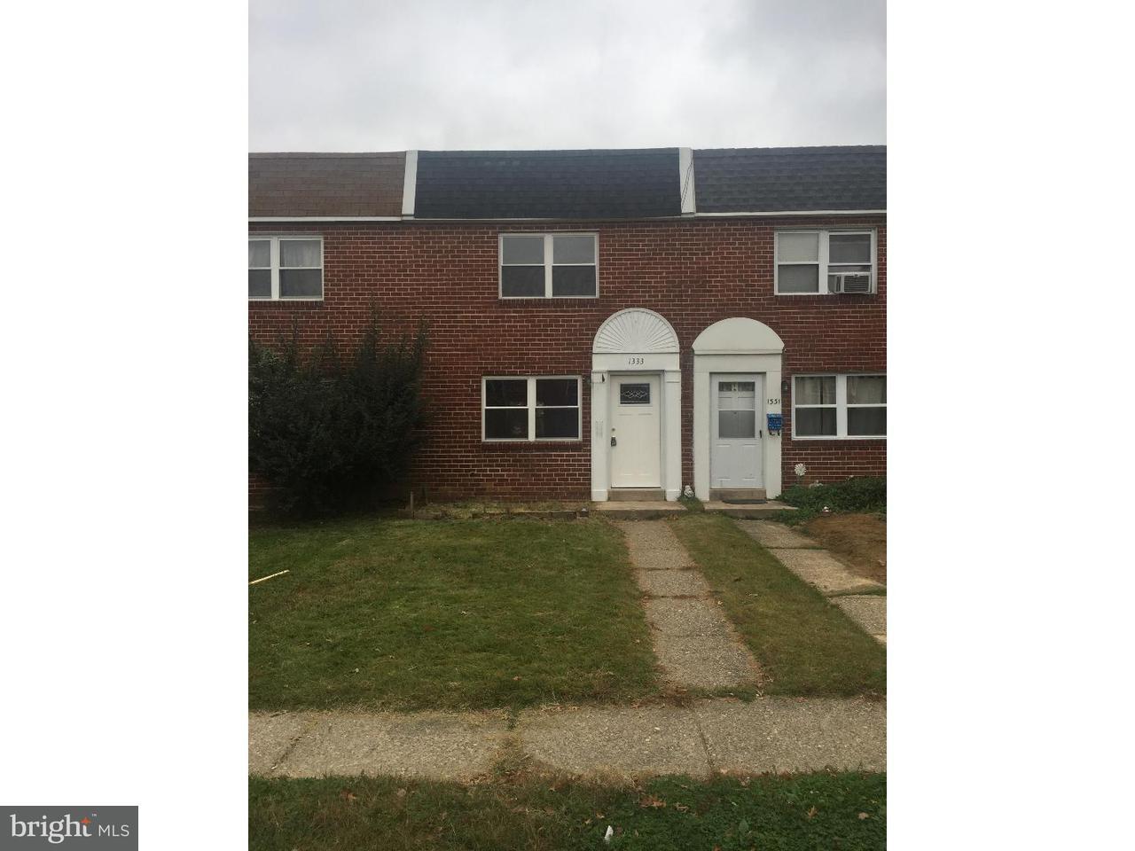 Maison en rangée pour l Vente à 1333 MAPLE Avenue Elsmere, Delaware 19805 États-Unis