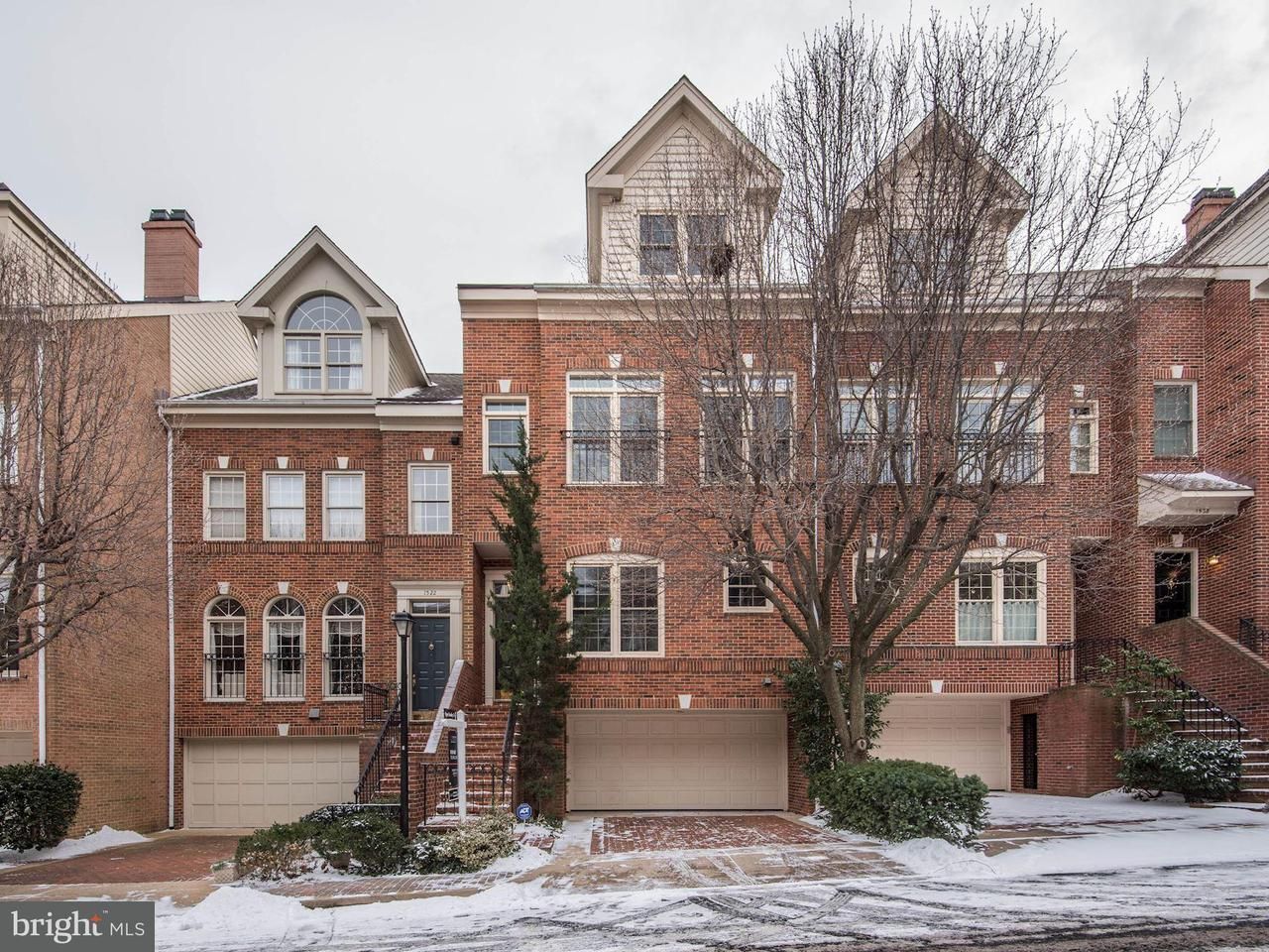 Maison accolée pour l Vente à 1524 COLONIAL CT N 1524 COLONIAL CT N Arlington, Virginia 22209 États-Unis