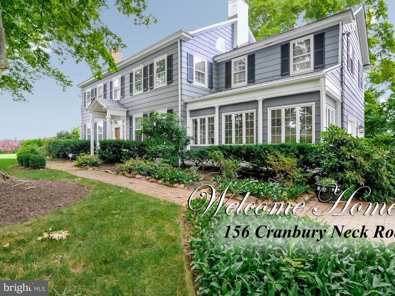 Частный односемейный дом для того Продажа на 156 CRANBURY NECK Road Cranbury, Нью-Джерси 08512 Соединенные ШтатыВ/Около: Plainsboro Township
