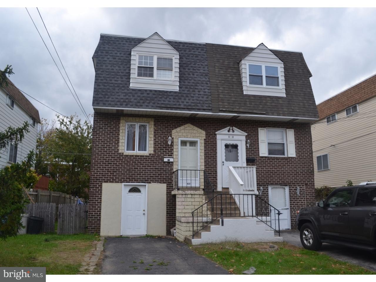 联栋屋 为 销售 在 822 SCHOOL Lane Folcroft, 宾夕法尼亚州 19032 美国