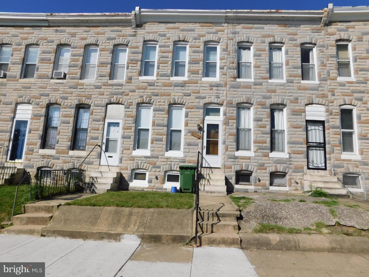 Single Family for Sale at 210 Catherine St Baltimore, Maryland 21223 United States