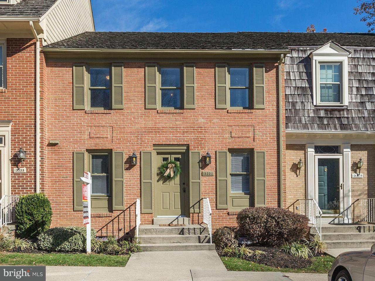 Townhouse for Sale at 15331 MANOR VILLAGE Lane 15331 MANOR VILLAGE Lane Rockville, Maryland 20853 United States