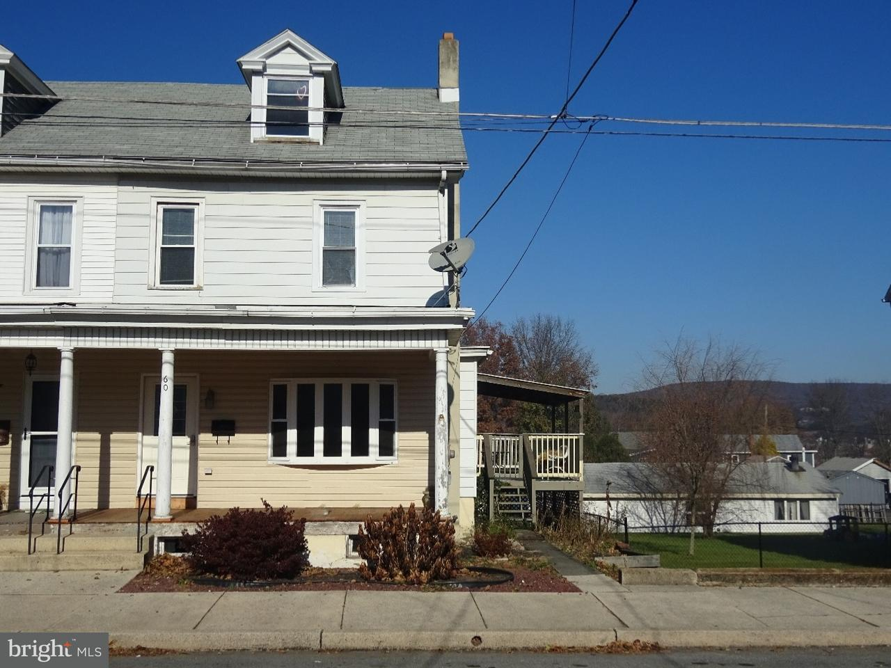 Townhouse for Sale at 60 SCHUYLKILL Street Cressona, Pennsylvania 17929 United States