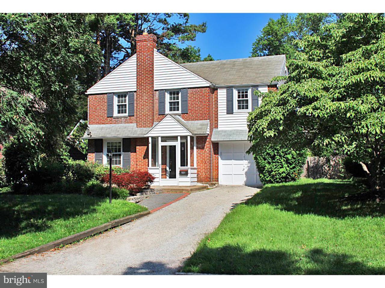 Maison unifamiliale pour l à louer à 531 ROCK GLEN Drive Wynnewood, Pennsylvanie 19096 États-Unis
