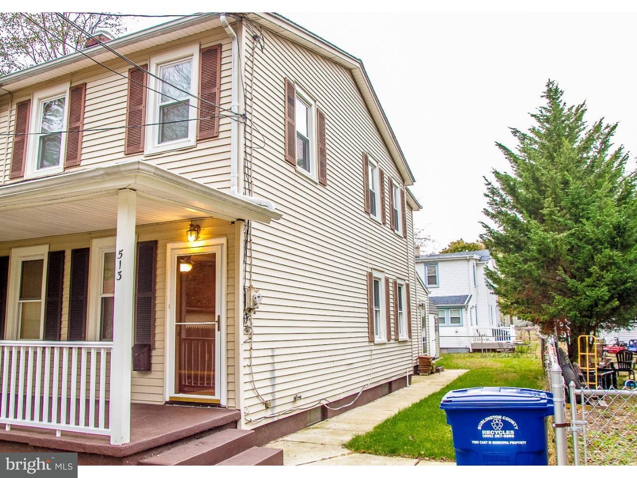 Maison accolée pour l à louer à 513 LOCUST Beverly, New Jersey 08010 États-Unis