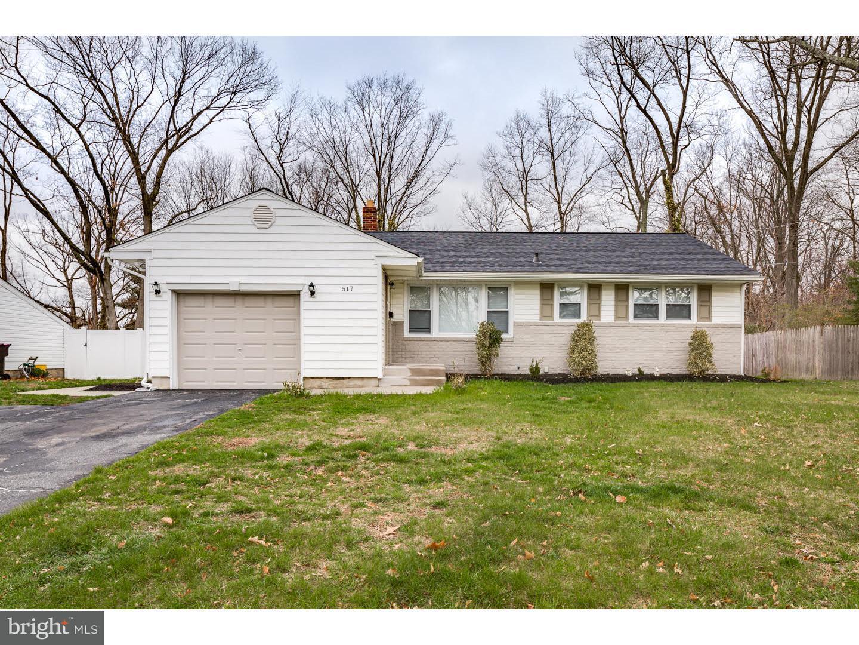 独户住宅 为 销售 在 517 PASADENA Drive Magnolia, 新泽西州 08049 美国