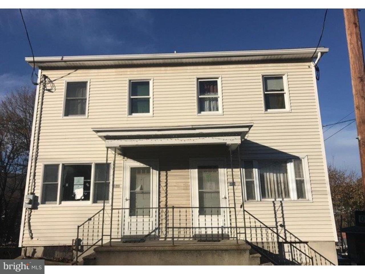 Duplex pour l Vente à 123 MAHANOY Street Tamaqua, Pennsylvanie 18252 États-Unis