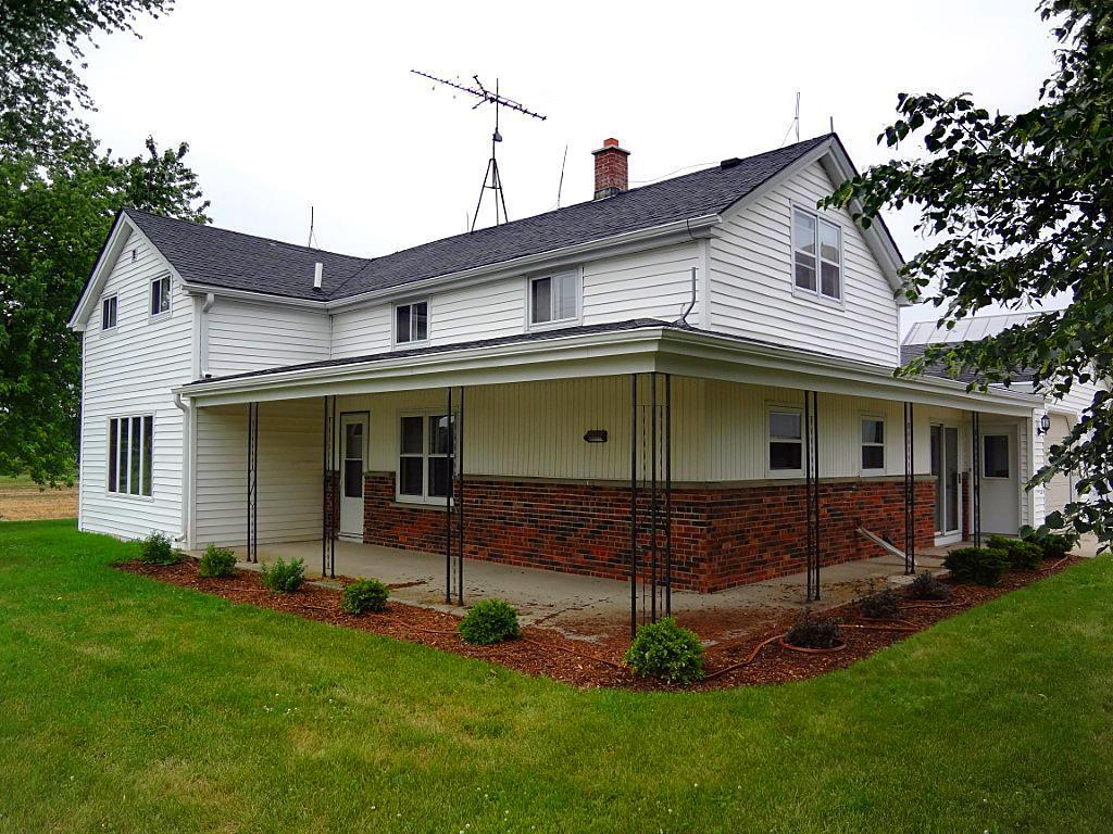 COUNTRY property near Plymouth & Elkhart Lake. 1.5 story farm house offers 3 BRs all on upper level and a bath on each level; first floor laundry; main level LR & upper level office space. Spacious rooms offer lots of storage. Updates include: windows & flooring (prior to closing). New mound system prior to closing. Property includes 2 car attached garage, steel sided machine shed plus huge barn. 2 large animals allowed. Horse stalls. All new flooring throughout. All on almost 3.5 acres!