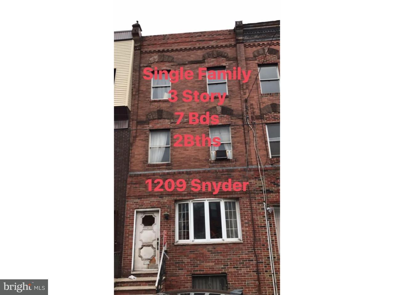 1209  Snyder Philadelphia , PA 19148